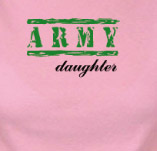 ARMY DAUGHTER t-shirt design idea