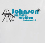 JOHNSION FAMILY REUNION BBQ t-shirt design idea
