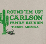 ROUND 'EM UP FAMILY REUNION t-shirt design idea
