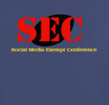 SOCIAL MEDIA EXEMPT CONFERENCE t-shirt design idea