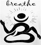 BREATHE OM t-shirt design idea