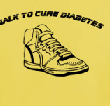WALK TO CURE DIABETES t-shirt design idea