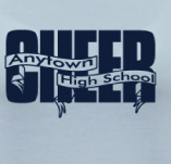 HIGH SCHOOL CHEER BANNERS t-shirt design idea