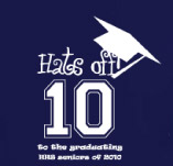 HATS OFF TO THE GRADUATING SENIORS t-shirt design idea