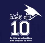 HATS OFF TO THE GRADUATING SENIORS t-shirt design idea