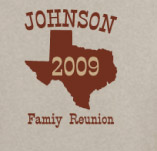 JOHNSON FAMILY REUNION TEXAS t-shirt design idea