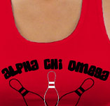 ALPHA CHI OMEGA BOWL-A-THON t-shirt design idea