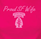 PROUD SPECIAL FORCES WIFE t-shirt design idea